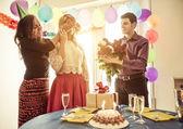 Fotografie Geburtstags-Party zu Hause
