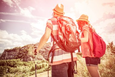 couple on a trekking excursion