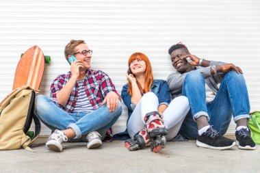 Multiracial group outdoors