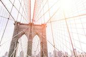 Fotografie umělecký pohled na slavné Brooklyin most