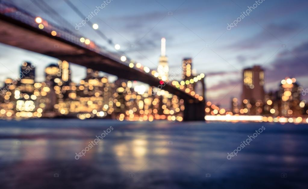 Immagine vaga di New York city — Foto Stock © oneinchpunch #84886970