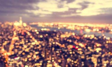 blurred city concept