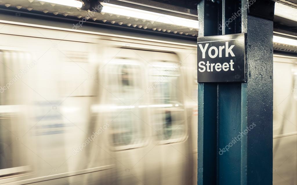New york city metro station
