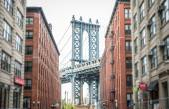 Fotografie Manhattan bridge pohled