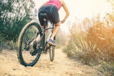 Mountain biking outdoors
