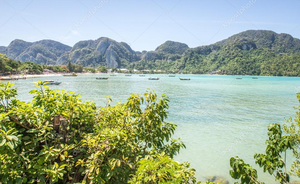 Beautiful thai beach and landscape
