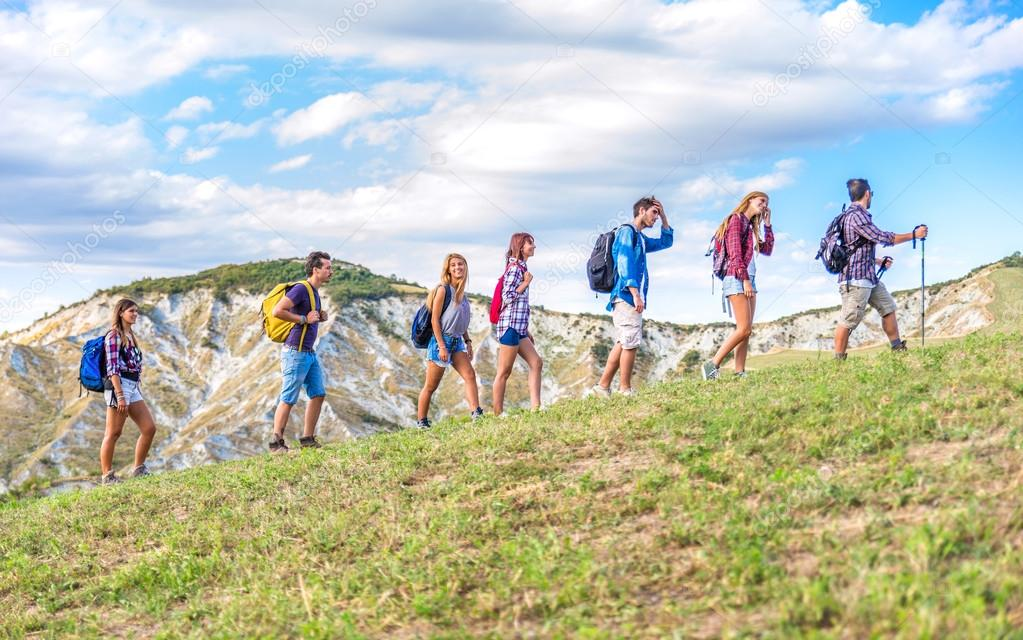 Hikers On Excursion Stock Photo