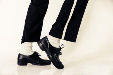 Dancer shoes close up