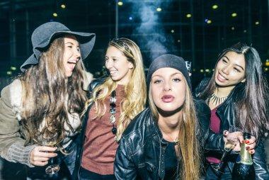 Girlfriends having party
