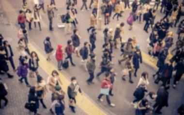 Blurred people walking in shibuya, Tokyo