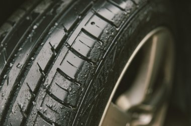 Sport tyre close up