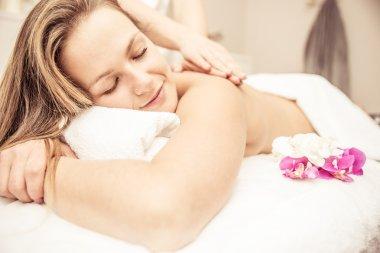 woman making massages