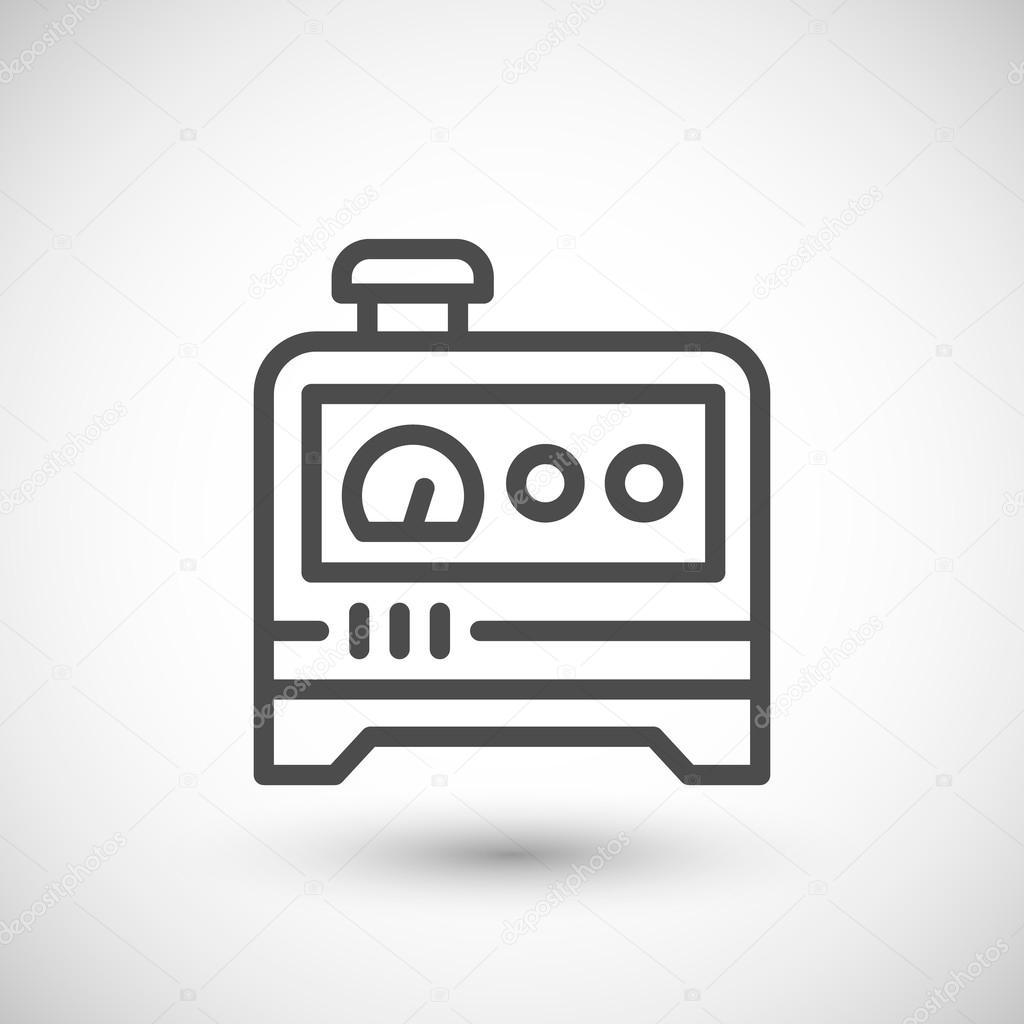 Line Drawing Generator : 전기 발전기 라인 아이콘 — 스톡 벡터 motorama