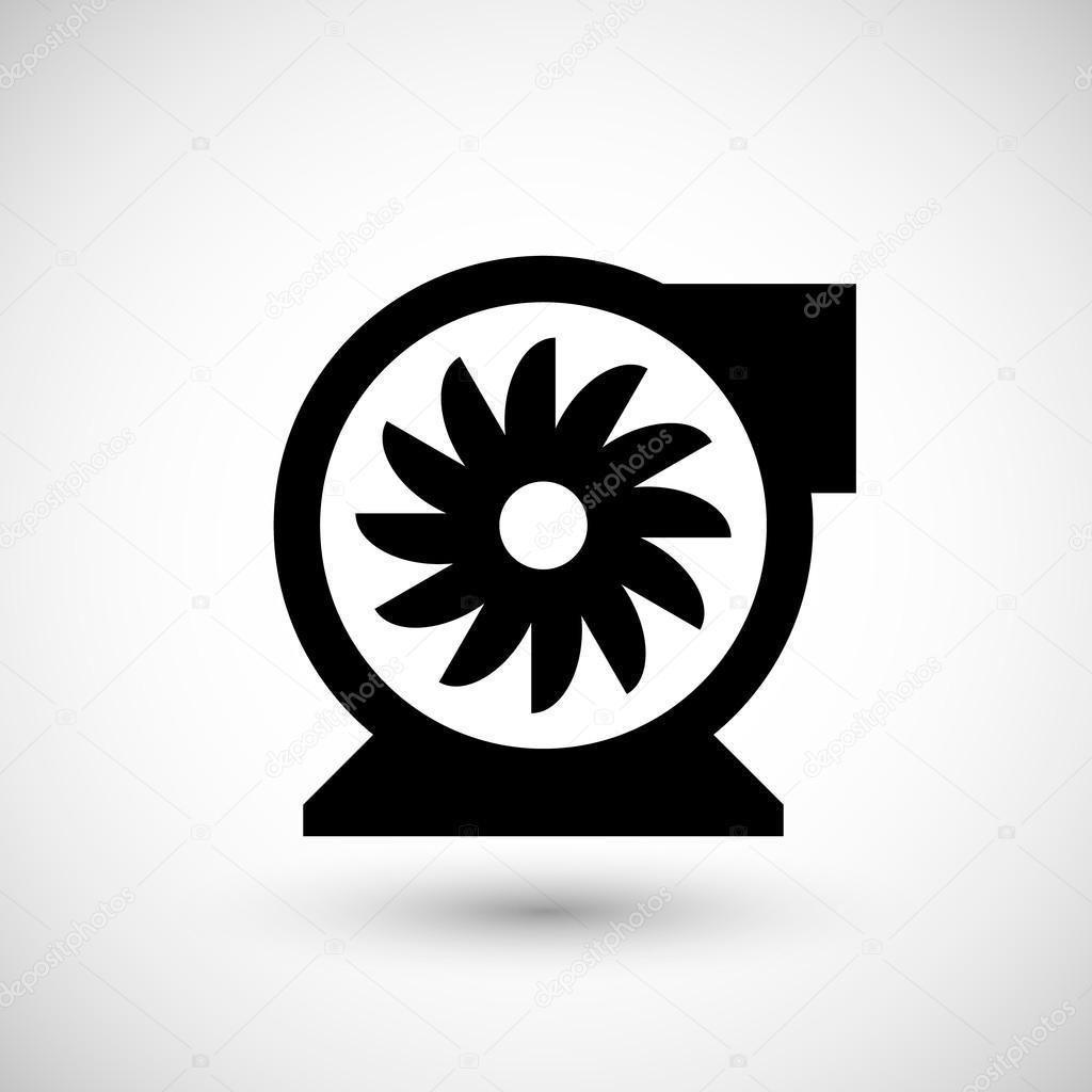 Centrifugal Fan Icon : 遠心送風機アイコン — ストックベクター motorama