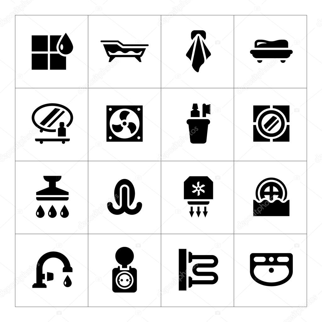Set Ikonen der Badezimmer — Stockvektor © motorama #53127583