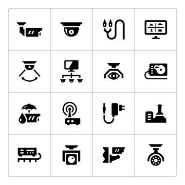 Set icons of video surveillance