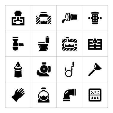 Set icons of sewerage
