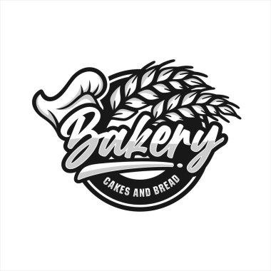 Bakery cakes and bread premium logo icon