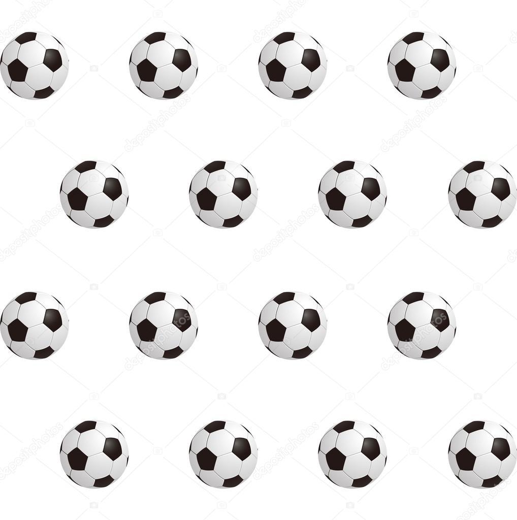 Balones de fútbol sobre campo verde. Fondo transparente. Ilustración de  vector– Ilustración de Stock d371ea2db75bf