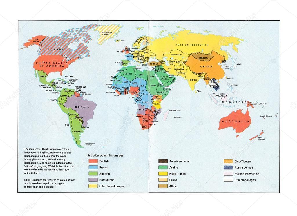 Thailande Carte Langues.Carte De La Langue Du Monde Photo Editoriale C Sirichaideposit