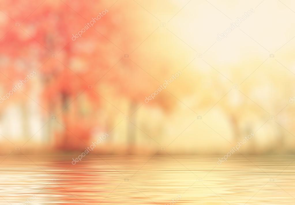 Abstract autumn background with reflection effect