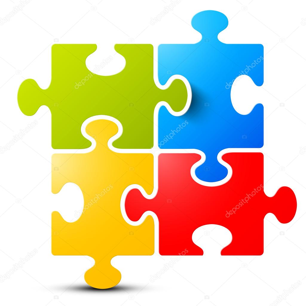 de4cf7d7f Jigsaw - Puzzle Vector Isolated on White Background — Stock Vector ...