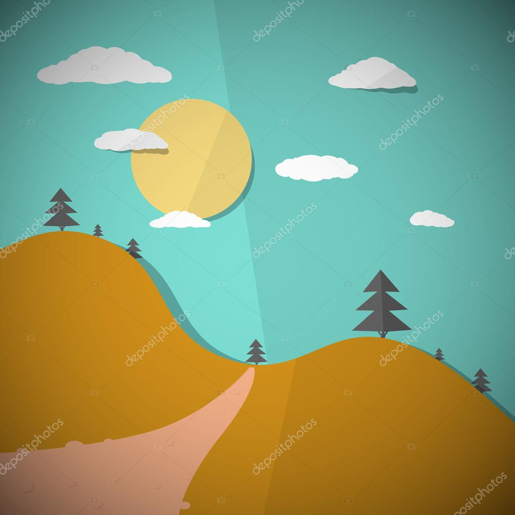 Vector Paper Nature Flat Design Illustration
