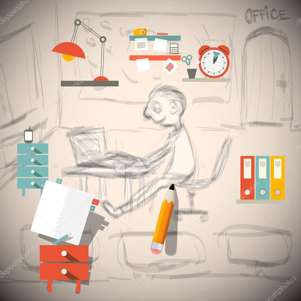 Grafik designer oder architekt ingenieur in office for Grafik designer