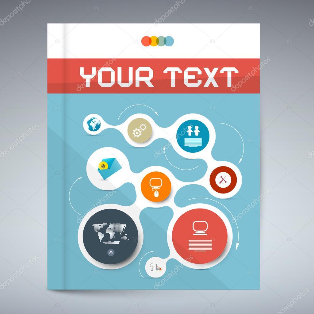 Vektor-blau moderne Buch oder Broschüre Cover Design - Vorlage ...