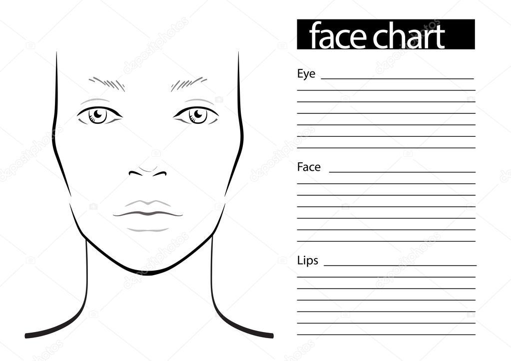 gezicht grafiek make up artiest leeg stockvector