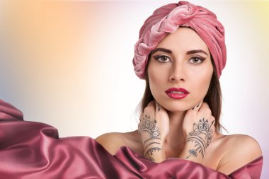 Beautiful woman in a turban