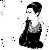 Portrit krásné retro ženy