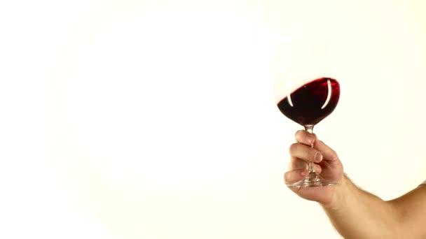 Rotweinspritzer, weiß
