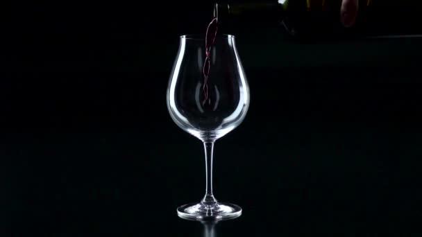 Červené víno použít na sklo, černý, silueta, slowmotion