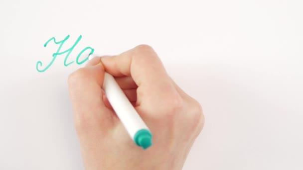 Kézi írás cél boldog születésnapot papíron nő