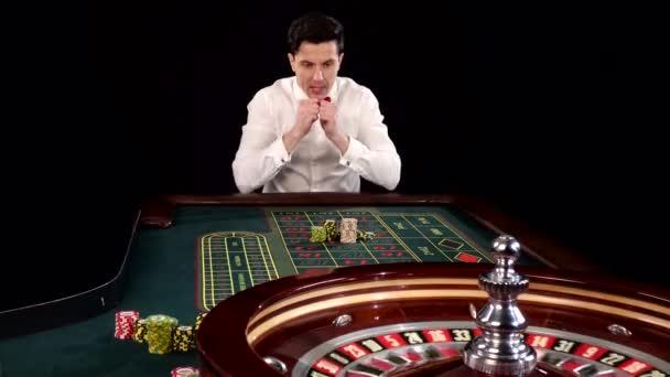 Poker player. Black