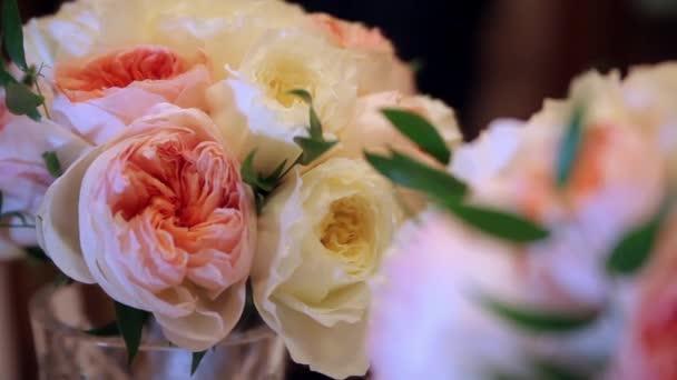 Svatební kytice od růžové, růžové květy, dynamické změně zaměření
