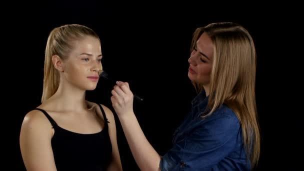 Professional make-up artist. Makeup. Black