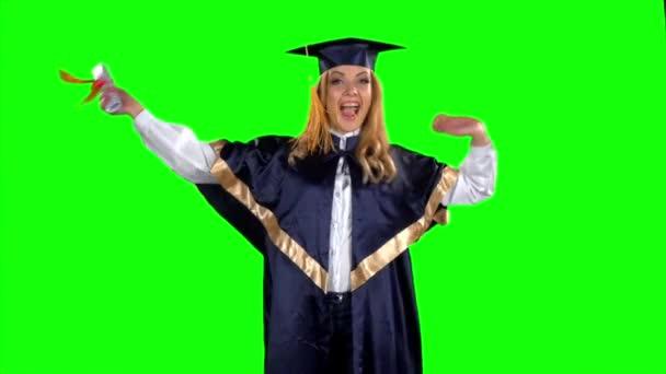 Absolventský tanec. Zelená obrazovka. Zpomaleně