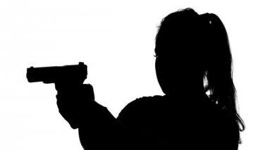 woman gun silhouette stock videos royalty free woman gun silhouette