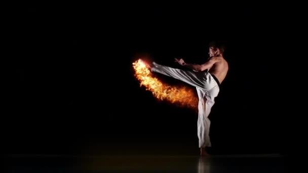 Karate harcos Burning hit, képszerkesztő, Square