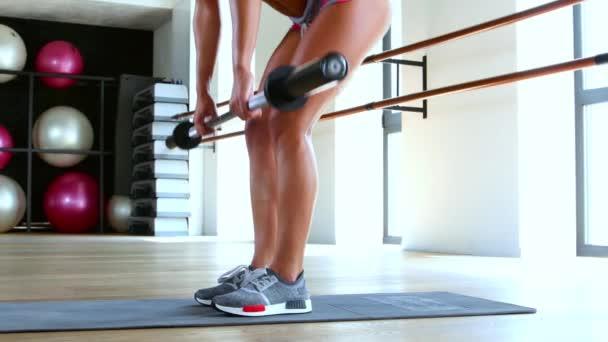 Žena, která dělá cvičení