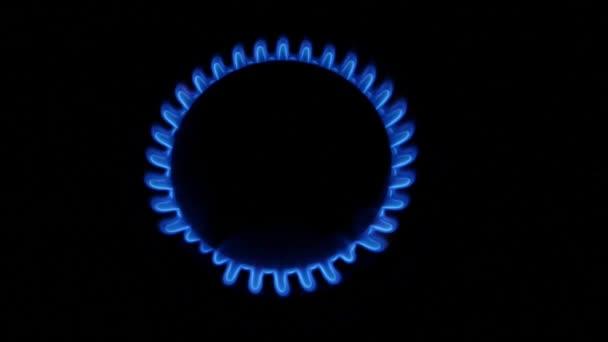 Kolo plynový hořák. Detailní záběr