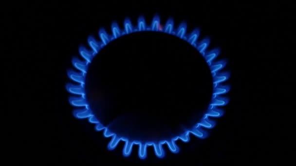 Modrý plamen z hořáku
