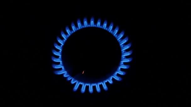 Blaue Flamme aus Gasbrenner