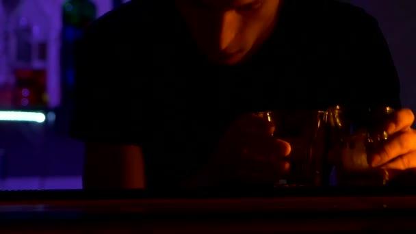 bartender making tricks