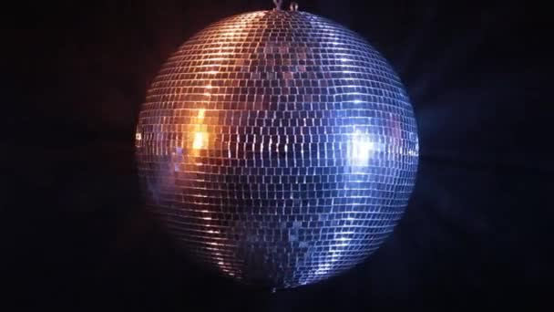 Disco mirror ball reflect blue and red light