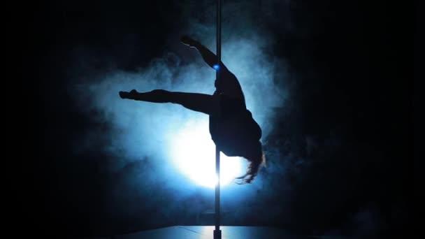 17of23 Silhouette einer sexy Frau Stange tanzen