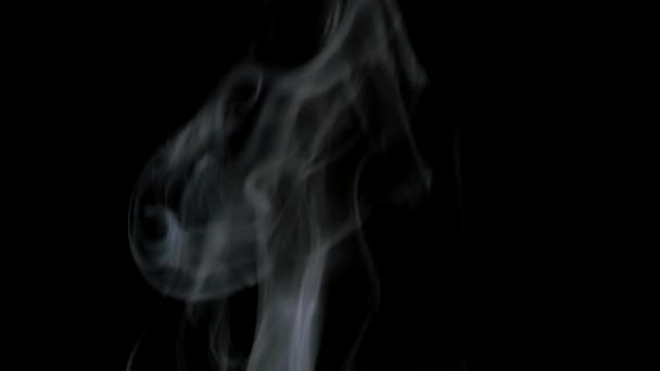 Coffee smoke on black background