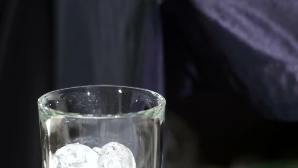 Ice cube isolated on white. close up. slow motion
